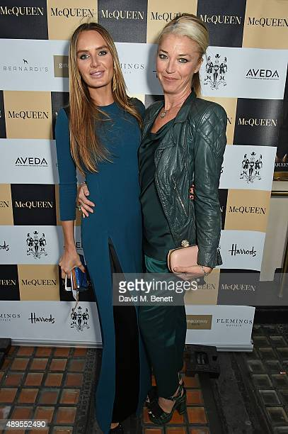 Masha Markova Hanson and Tamara Beckwith attend the exclusive viewing of 'McQueen' hosted by Karim Al Fayed for Lonely Rock Investments during London...