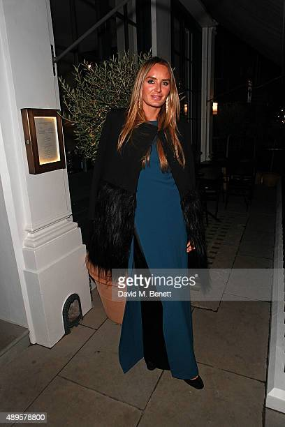 Masha Markova Hanson attends an after party for the exclusive viewing of 'McQueen' hosted by Karim Al Fayed for Lonely Rock Investments during London...