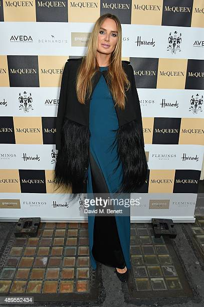 Masha Markova Hanson attends the exclusive viewing of 'McQueen' hosted by Karim Al Fayed for Lonely Rock Investments during London Fashion Week at...