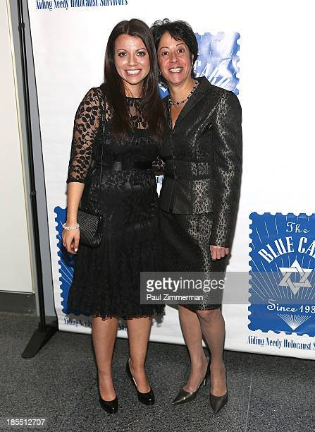 Masha Pearl and Sherry Wilzig Izak attend the 79th annual Blue Card Benefit gala at American Museum of Natural History on October 21 2013 in New York...