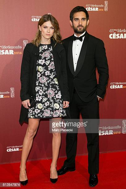 Masha Rassam and Dimitri Rassam arrive to attend the 'Cesars Film Awards 2016' ceremony at Theatre du Chatelet on February 26 2016 in Paris France