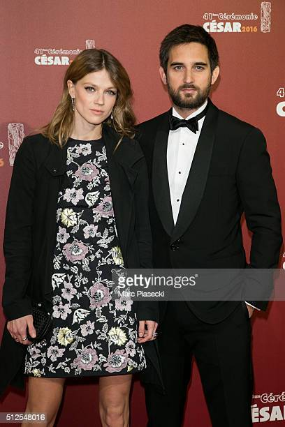 Masha Rassam and Dimitri Rassam arrive to attend the 'Cesars Film Awards 2016' ceremony at Theatre du Chatelet on February 26, 2016 in Paris, France.