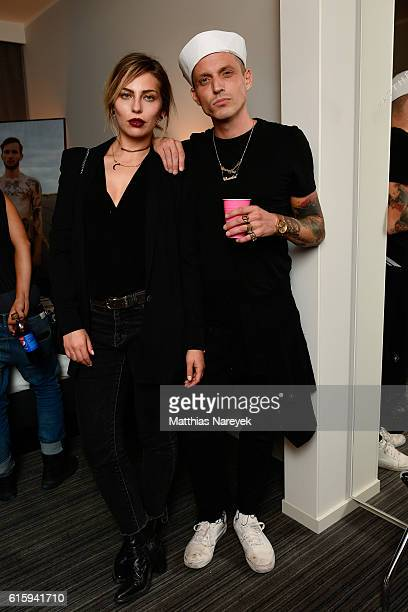 Masha Sedgwick and Carl Jakob Haupt attend the Moxy Berlin Hotel Opening Partyon October 20, 2016 in Berlin, Germany.