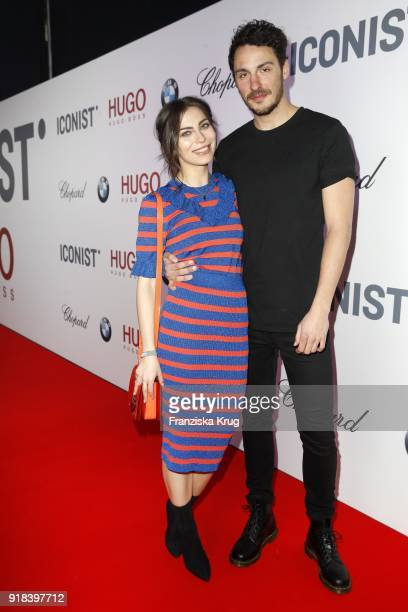 Masha Sedgwick and David Jacobs attend the Young ICONs Award in cooperation with ICONIST at SpindlerKlatt on February 14 2018 in Berlin Germany