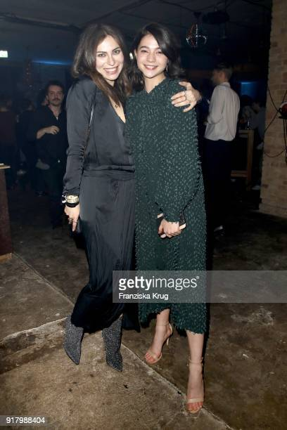 Masha Sedgwick and LisaMarie Koroll wearing HM during the Inter/VIEW X HM Party on February 13 2018 in Berlin Germany