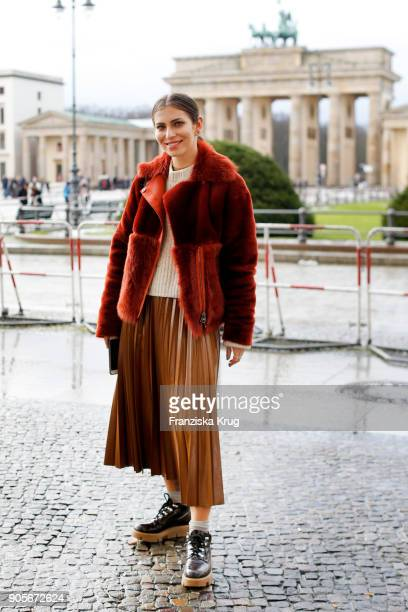 Masha Sedgwick attends the Strenesse presentation during 'Der Berliner Salon' AW 18/19 at The Gate on January 16 2018 in Berlin Germany