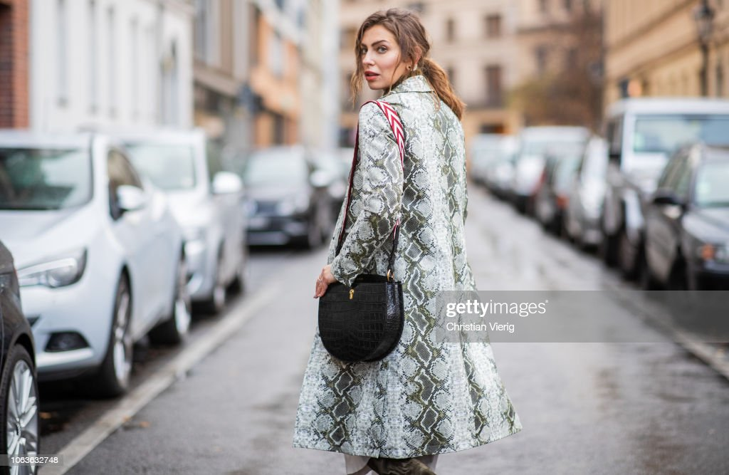 Street Style - Berlin - November 19, 2018 : Fotografía de noticias