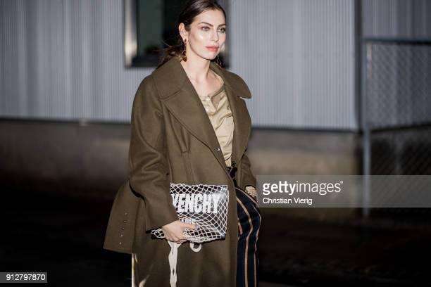 Masha Sedgwick outside By Malene Birger during the Copenhagen Fashion Week Autumn/Winter 18 on January 31 2018 in Copenhagen Denmark