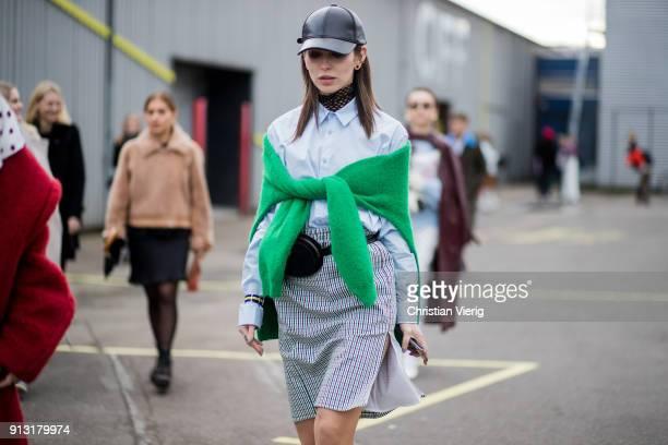 Masha Sedgwick outside Designers Remix during the Copenhagen Fashion Week Autumn/Winter 18 on February 1 2018 in Copenhagen Denmark