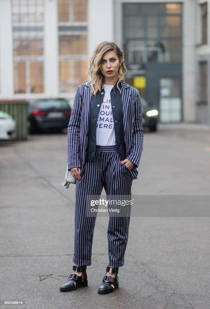 Street Style Day 2 - Copenhagen Fashion Week A/W 17 : News Photo