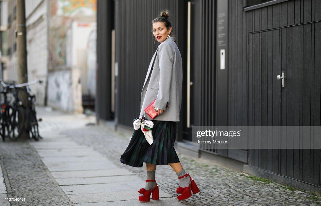Street Style - Berlin - March 20, 2019 : News Photo
