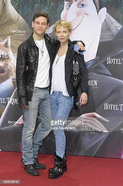 Masha Tokareva and Vinzenz Kiefer attend the 'Hotel Transsilvanien' Premiere at Cinemaxx on October 21 2012 in Berlin Germany