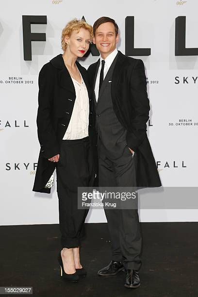 Masha Tokareva and Vinzenz Kiefer attend the 'Skyfall' Germany Premiere at Theater am Potsdamer Platz on October 30 2012 in Berlin Germany