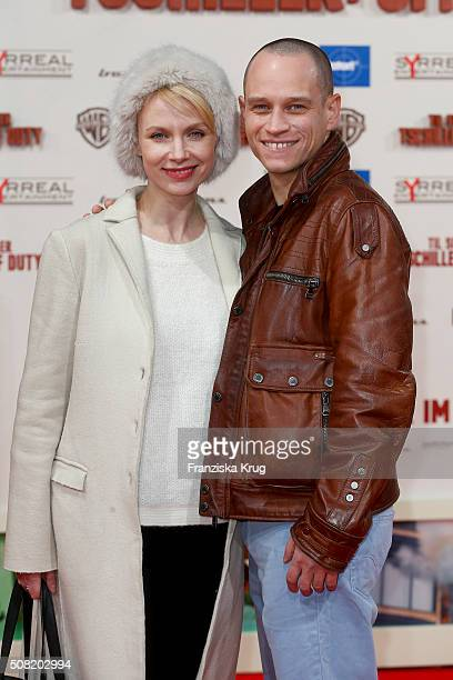 Masha Tokareva and Vinzenz Kiefer attend the 'Tschiller: Off Duty' German Premiere In Berlin on February 3, 2016 in Berlin, Germany.