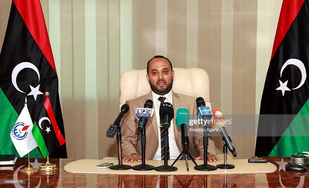 The new Libyan minister of oil Mashallah al-Zawie : News Photo