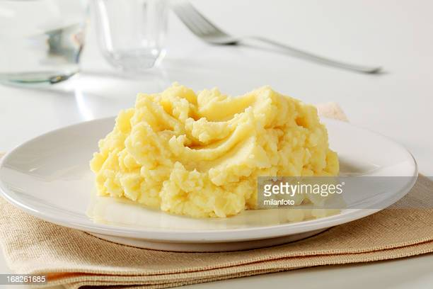 mashed potato - pureed stock photos and pictures