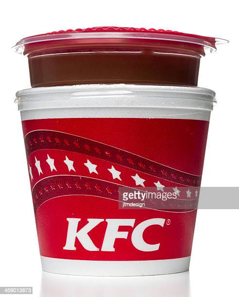 kfc mashed potatoes and signature gravy - gravy stock photos and pictures