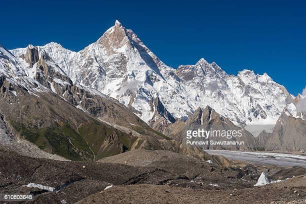 Masherbrum mountain peak at GoroII camp, K2trek