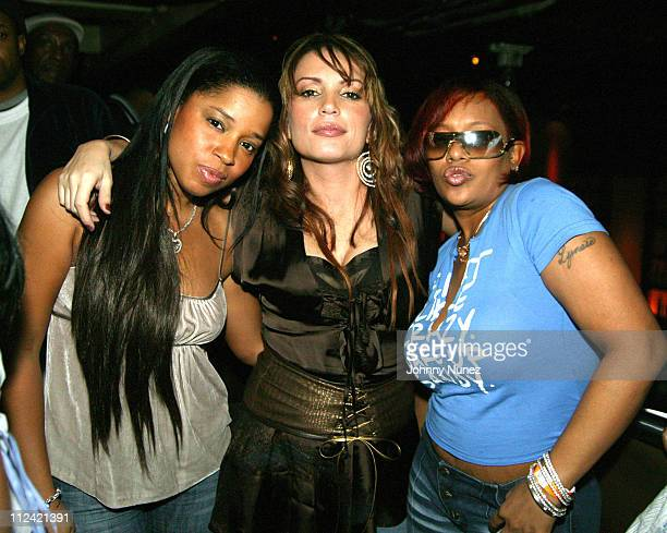 Mashonda Angie Martinez and Queen Pen during Angie Martinez's Birthday Party January 14 2005 at DEEP in New York City NY United States