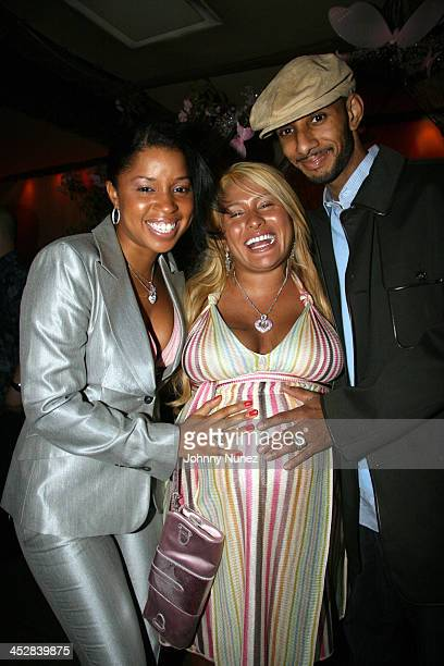 Mashonda Lorena Rios and Swizz Beatz during Baby Shower for Lorena Rios Fat Joe's Wife at Cain in New York New York United States