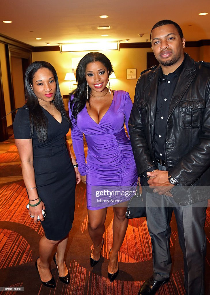 Mashonda (c), Snagz (R), and guest attend the 2013 Keepers Of The Dream Awards at the Sheraton New York Hotel & Towers on April 4, 2013, in New York City.