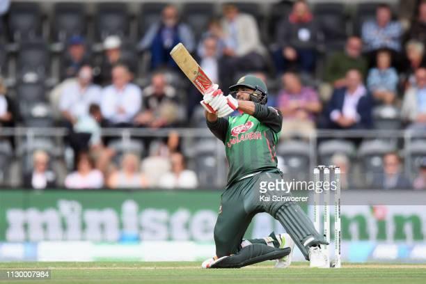 Mashrafe Bin Mortaza of Bangladesh bats during Game 2 of the One Day International series between New Zealand and Bangladesh at Hagley Oval on...
