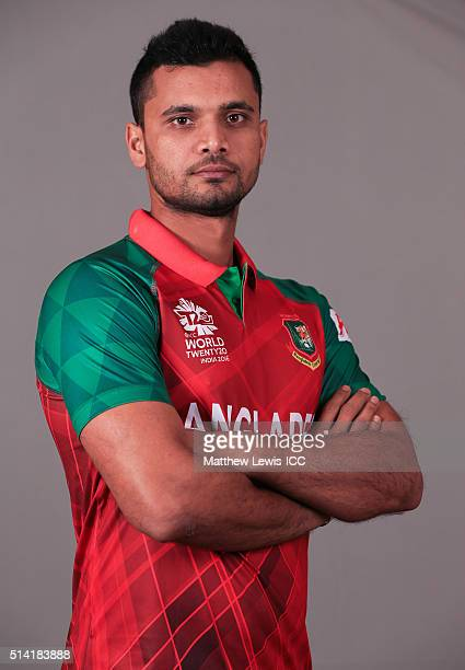 Mashrafe Mortaza Captain of Bangladesh pictured during a Headshot session ahead of the ICC Twenty20 World Cup on March 7 2016 in Dharamsala India
