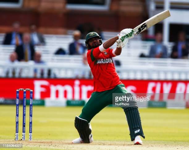 Mashrafe Mortaza of Bangladesh during ICC Cricket World Cup between Pakinstan and Bangladesh at the Lord's Ground on 05 July 2019 in London, England.