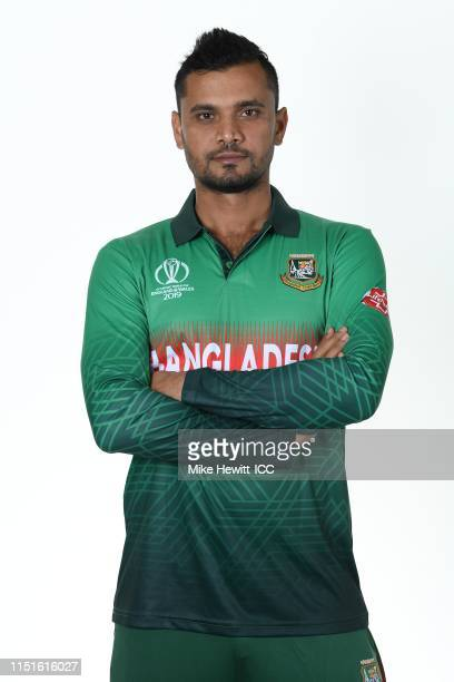 Mashrafe Mortaza of Bangladesh poses for a portrait prior to the ICC Cricket World Cup 2019 at the Park Plaza Hotel on May 25 2019 in Cardiff Wales