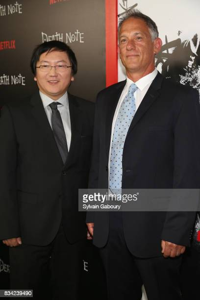 Masi Oka and Jason Hoffs attend Death Note New York Premiere at AMC Loews Lincoln Square 13 theater on August 17 2017 in New York City