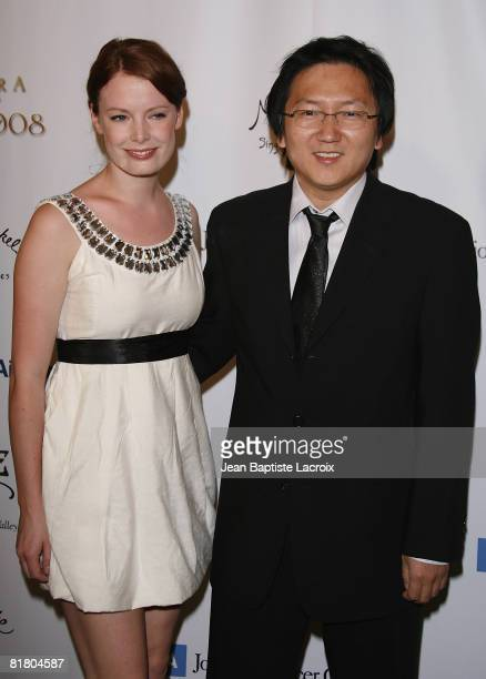 Masi Oka and Linn Bijornland attend the TASTE FOR A CURE fundraiser for the Jonsson Cancer Center Foundation on June 21, 2008 at The Beverly Wilshire...