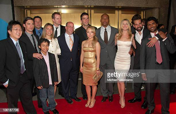 Masi Oka Milo Ventimiglia Greg Grunberg Noah GrayCabey Kathryn Zucker Jack Coleman Jeff Zucker CEO NBC Zachary Quinto Hayden Panettiere Leonard...