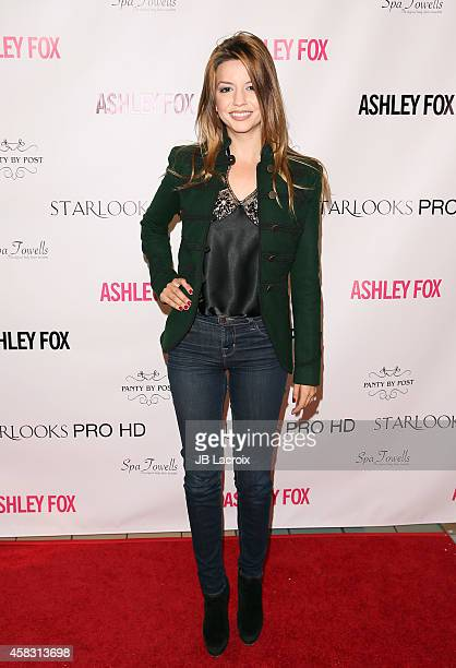 Masiela Lusha attends the launch of her own signature makeup line for Starlooks Cosmetics at Stonewood Mall on November 02 2014 in Downey California