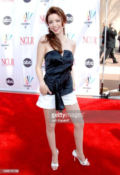 Masiela Lusha during 2006 NCLR ALMA Awards Arrivals at Shrine Auditorium in Los Angeles California United States