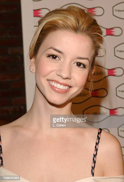 Masiela Lusha during TMobile Launches The New BlackBerry Pearl with a Night of Bowling for Charity Red Carpet at Lucky Strike Lanes in Los Angeles...
