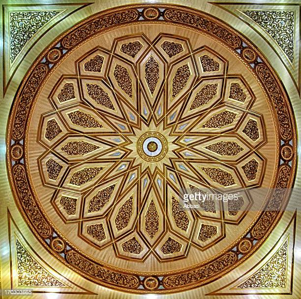 masjid al nabawi ceiling - al madinah stock pictures, royalty-free photos & images