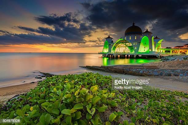 Masjid Selat, Melaka at twilight