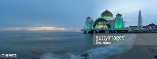 Masjid Selat Melaka(Malacca Straits Mosque)in Malaysia