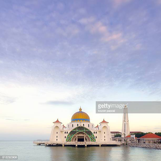 Masjid Selat mosque in Melacca , Malaysia