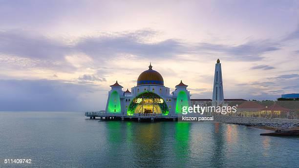 Masjid Selat mosque in Melaka ( Salengor ; Malaysia )