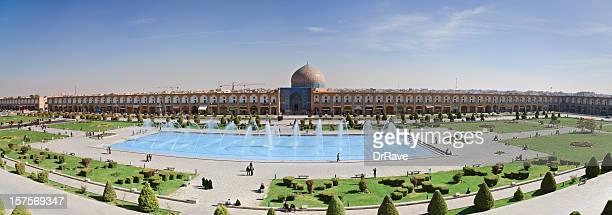 masjid-ich sheikh lotfallah in naghsh ich jahan square, iran - isfahan stock-fotos und bilder