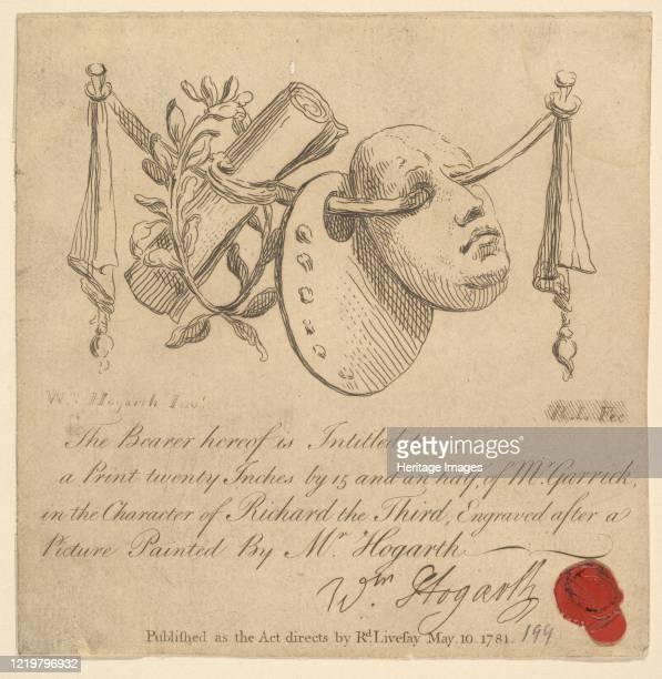 Mask and Palette 1781 After William Hogarth Artist Richard Livesay