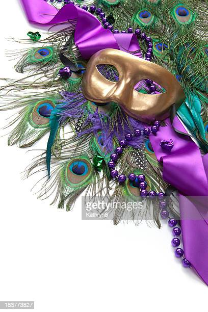Mask and Peacock Feathers