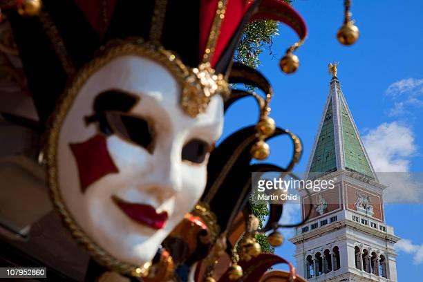 Mask and St Mark's Campanile, Venice