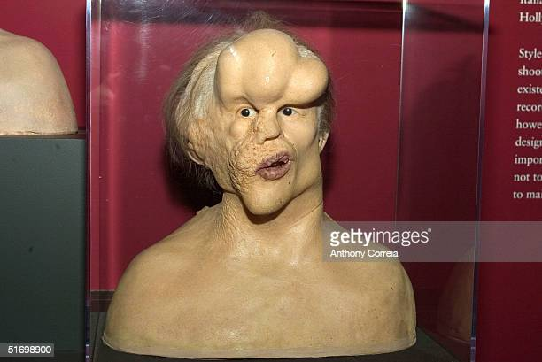 A mask from the science fiction movieThe Elephant Man lies on display at the reception for the new exhibit at the Museum of the Moving Image From...