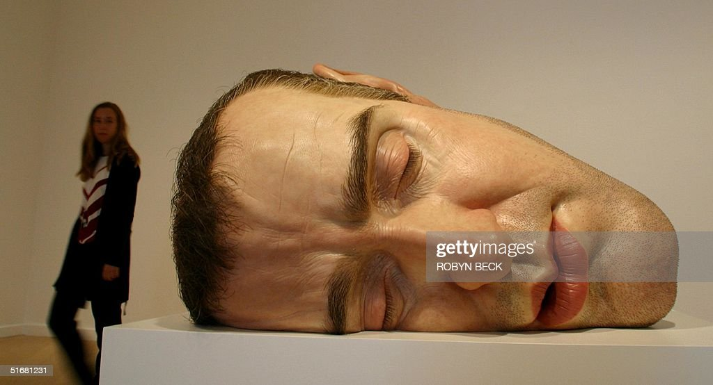 mask ii by australia born london based artist ron mueck is