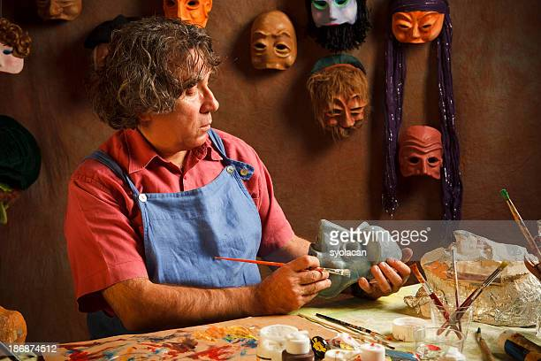 mask maker - syolacan stock pictures, royalty-free photos & images