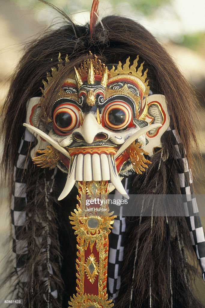 Mask of Rangda, the Evil Witch, Bali : Stock Photo