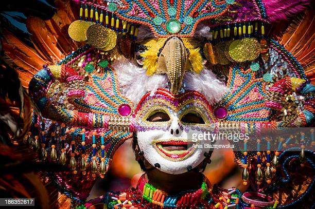 Mask of the Masskara Festival performer. MassKara Festival, one of the biggest and most colorful Filipino festivals, is held every year in October in...