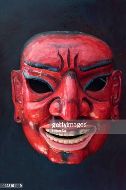 mask, paro, bhutan - paro district stock pictures, royalty-free photos & images